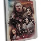 Game Of Thrones House Stark Art John Snow 20x16 Framed Canvas Print