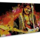 Jimi Hendrix Rock Music Star 20x16 Framed Canvas Print