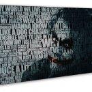 Joker Batman Quotes 20x16 Framed Canvas Print