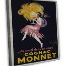 Vintage French Cognac Monnet 20x16 Framed Canvas Print