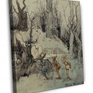 Arthur Rackham Elves In A Wood Fine Art 20x16 Framed Canvas Print