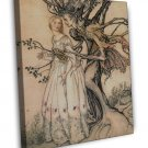 Arthur Rackham The Old Woman In The Wood Fine Art 20x16 Framed Canvas Print