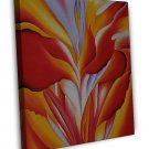 Georgia Okeeffe Red Canna Fine Art 20x16 Framed Canvas Print