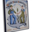 Works Pays America Wpa Art 20x16 Framed Canvas Print