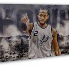 Kawhi Leonard Basketball Star Wall Decor 16x12 FRAMED CANVAS Print