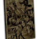 The Walking Dead Tv Series Rick Daryl 16x12 Framed Canvas Print