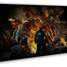 Gears Of War 3 Game 16x12 Framed Canvas Print
