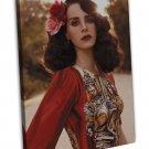Lana Del Rey Music Star Art 20x16 Framed Canvas Print Decor