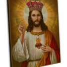 Jesus Christ Lord Savior Art 20x16 Framed Canvas Print Decor