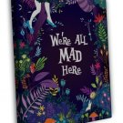 Alice In Wonderland Movie Art 20x16 FRAMED CANVAS Print Decor