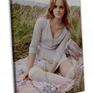 Emma Watson Movie Actor Star Art 20x16 Framed Canvas Print Decor