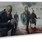 Vikings Tv Show Art 20x16 Framed Canvas Print Decor