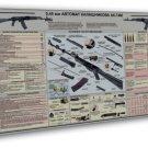 Guns Military Rifles Charts Art 20x16 Framed Canvas Print Decor