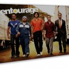Entourage Comedy Drama Tv Art 20x16 Framed Canvas Print Decor