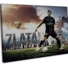 Zlatan Ibrahimovic Football Star Art 20x16 FRAMED CANVAS Print Decor