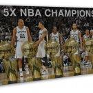 Kawhi Leonard Basketball Star Art 20x16 FRAMED CANVAS Print Decor