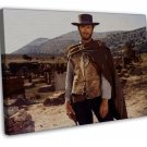 Clint Eastwood Movie Actor Star Art 20x16 FRAMED CANVAS Print Decor