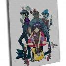 Gorillaz Music Band Group Art 20x16 Framed Canvas Print Decor