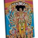 Jimi Hendrix American Guitarist Art 20x16 FRAMED CANVAS Print Decor