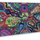 Psychedelic Trippy Art Wall Decor 20x16 Framed Canvas Print