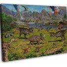 Dinosaur Volcanoes Art Murals Wall Decor 20x16 FRAMED CANVAS Print