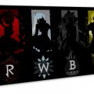 Rwby Anime Wall Decor 20x16 Framed Canvas Print