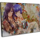 Anime Tattoo Girl Wall Decor 20x16 FRAMED CANVAS Print