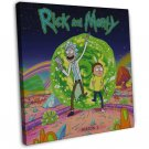 Rick And Morty Tv Animation Wall Decor 20x16 Framed Canvas Print