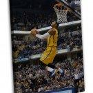 Paul George Basketball Star Wall Decor 20x16 FRAMED CANVAS Print
