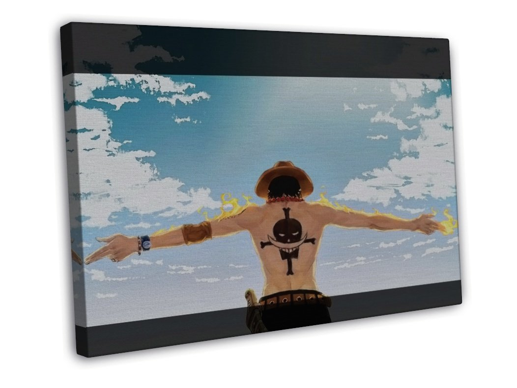 One Piece Ace 20x16 Framed Canvas Print