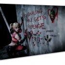 Arkham The Joker Harley Quinn Art 20x16 Framed Canvas Print Decor