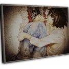 Death Note Anime Art 20x16 Framed Canvas Print Decor