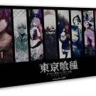 Tokyo Ghoul Japanese Anime Art 20x16 FRAMED CANVAS Print Decor