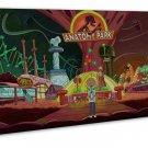 Rick And Morty Tv Animation Art 20x16 Framed Canvas Print Decor
