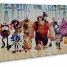 Wreck It Ralph The Popular Movie Art 20x16 Framed Canvas Print Decor