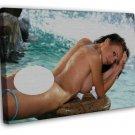 Hot Body Alexis Tyler Sexy Model Art 20x16 Framed Canvas Print Decor