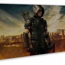 Green Arrow Tv Show Art 20x16 Framed Canvas Print Decor
