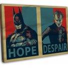 Batman Arkham City Art 20x16 Framed Canvas Print Decor