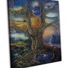 Tree Of Peace Art Art 20x16 Framed Canvas Print Decor