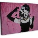 Banksy Street Art Canvas Art 20x16 Framed Canvas Print Decor