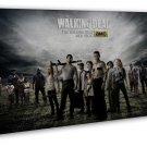 The Walking Dead Tv Zombie Art 20x16 Framed Canvas Print Decor