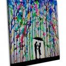 Marc Allante Water Colour Art 20x16 Framed Canvas Print Decor