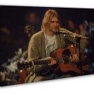 Nirvana Kurt Cobain Guitar Show Art 20x16 FRAMED CANVAS Print Decor