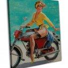 Vintage Gil Elvgren Pinup Girl Art 20x16 Framed Canvas Print Decor