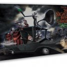 The Nightmare Before Christmas Art 20x16 FRAMED CANVAS Print Decor
