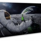 Astronauts On The Moon Art 20x16 FRAMED CANVAS Print Decor