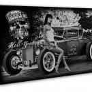 Hot Rod Vintage Cars Wall Decor 20x16 Framed Canvas Print