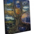 Tree Of Peace Art Wall Decor 20x16 Framed Canvas Print