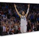 Dirk Nowitzki Basketball Star Wall Decor 20x16 FRAMED CANVAS Print