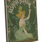 Absinthe Blanqui Vintage French Style Wall Decor 20x16 FRAMED CANVAS Print